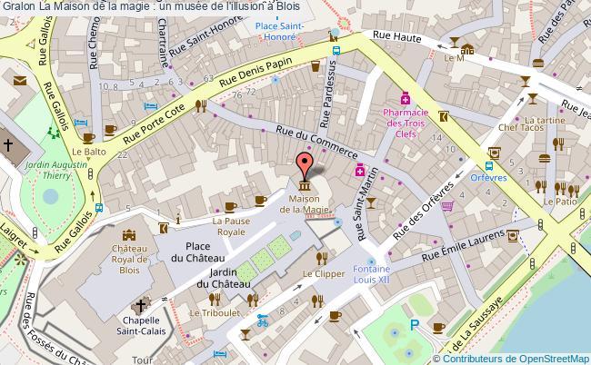 plan La Maison De La Magie : Un Musée De L'illusion à Blois