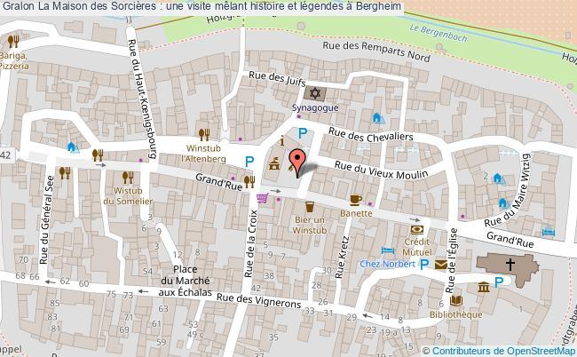 plan La Maison Des Sorcières : Une Visite Mêlant Histoire Et Légendes à Bergheim