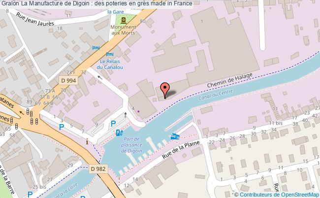 plan La Manufacture De Digoin : Des Poteries En Grès Made In France