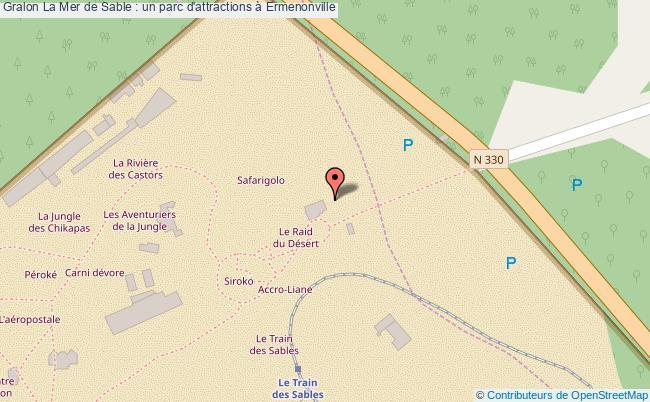 plan La Mer De Sable : Un Parc D'attractions à Ermenonville
