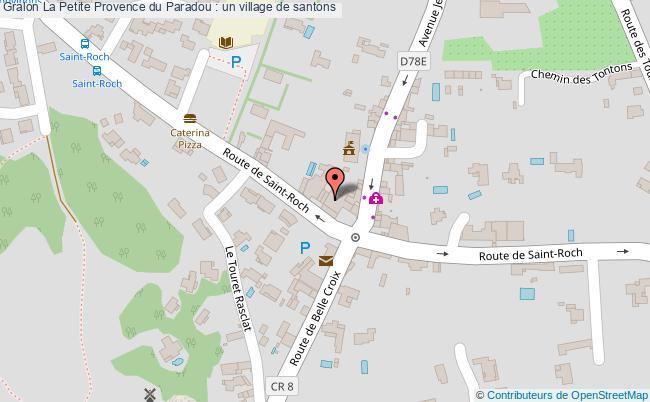 plan La Petite Provence Du Paradou : Un Village De Santons