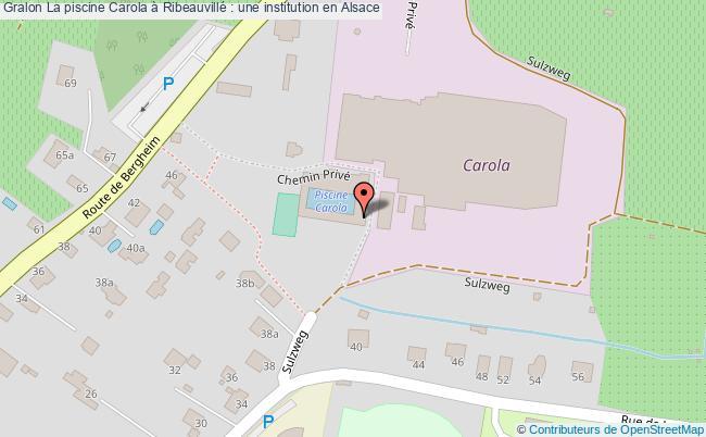plan La Piscine Carola à Ribeauvillé : Une Institution En Alsace