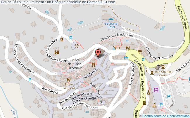 plan La Route Du Mimosa : Un Itinéraire Ensoleillé De Bormes à Grasse