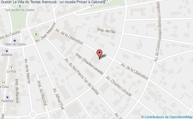 plan La Villa Du Temps Retrouvé : Un Musée Proust à Cabourg