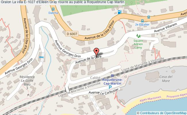 plan La Villa E-1027 D'eileen Gray Rouvre Au Public à Roquebrune Cap Martin