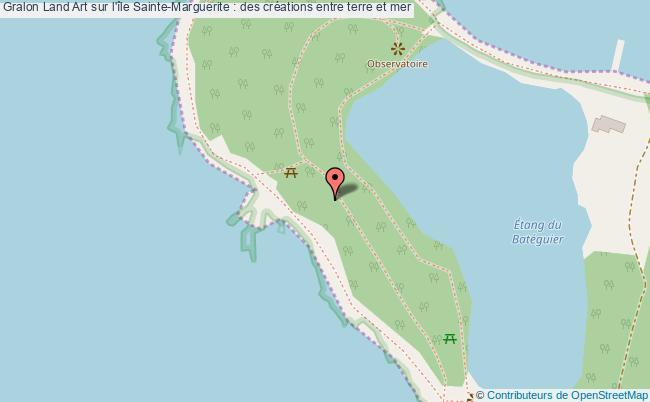 plan Land Art Sur L'île Sainte-marguerite : Des Créations Entre Terre Et Mer