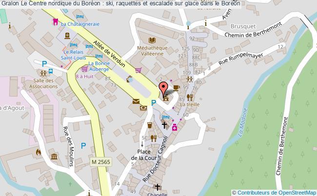 plan Le Centre Nordique Du Boréon : Ski, Raquettes Et Escalade Sur Glace Dans Le Boréon