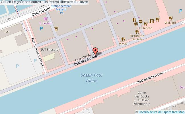 plan Le Goût Des Autres : Un Festival Littéraire Au Havre