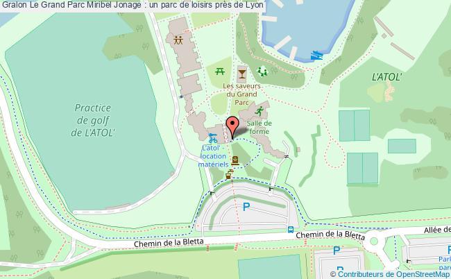 plan Le Grand Parc Miribel Jonage : Un Parc De Loisirs Près De Lyon