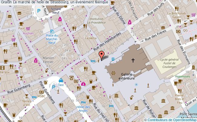 plan Le Marché De Noël De Strasbourg, Un événement Féerique