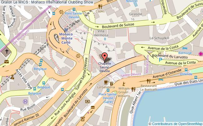 plan Le Mics : Monaco International Clubbing Show