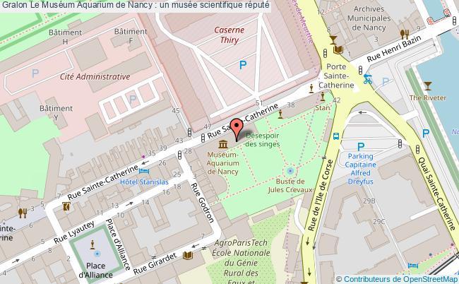 plan Le Muséum Aquarium De Nancy : Un Musée Scientifique Réputé
