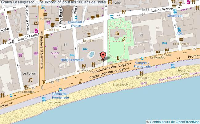 plan Le Negresco : Une Exposition Pour Les 100 Ans De L'hôtel