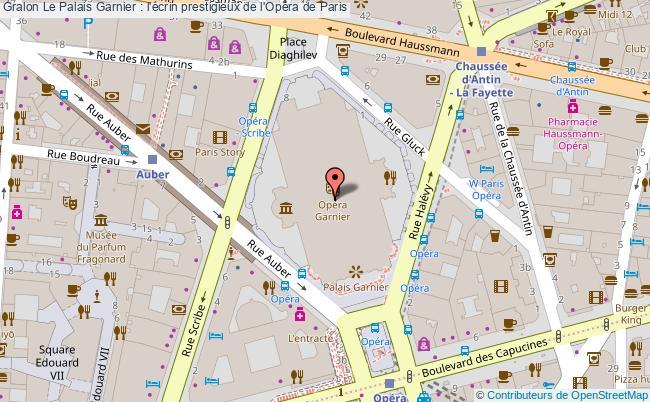 plan Le Palais Garnier : L'écrin Prestigieux De L'opéra De Paris