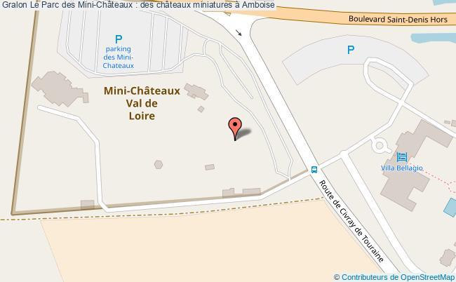 plan Le Parc Des Mini-châteaux : Des Châteaux Miniatures à Amboise