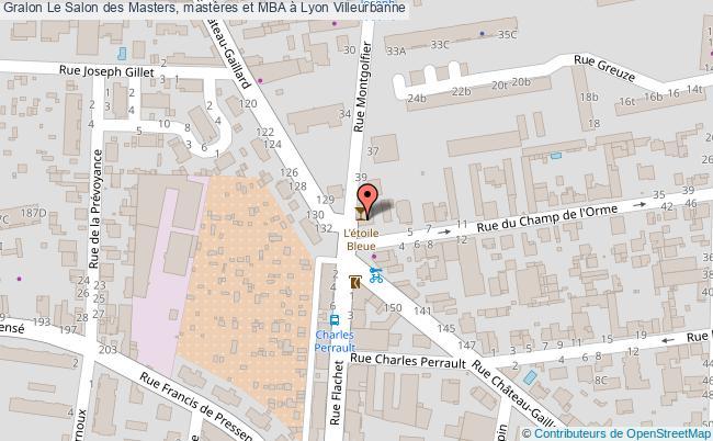 plan Le Salon Des Masters, Mastères Et Mba à Lyon Villeurbanne