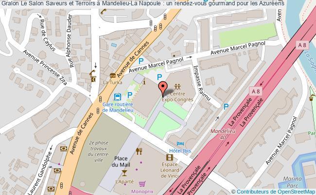 plan Le Salon Saveurs Et Terroirs à Mandelieu-la Napoule : Un Rendez-vous Gourmand Pour Les Azuréens