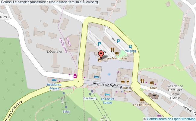 plan Le Sentier Planétaire : Une Balade Familiale à Valberg