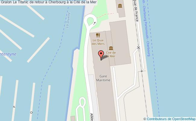 plan Le Titanic De Retour à Cherbourg à La Cité De La Mer