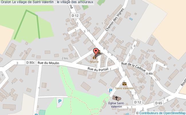 plan Le Village De Saint-valentin : Le Village Des Amoureux