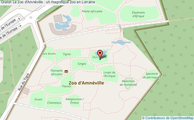 plan Le Zoo D'amnéville : Un Magnifique Zoo En Lorraine