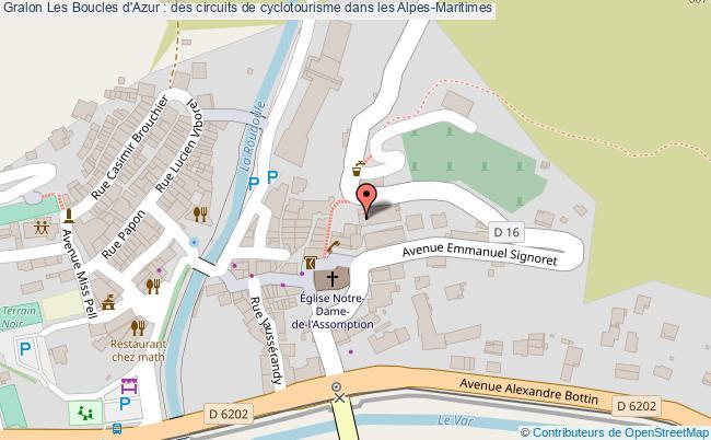 plan Les Boucles D'azur : Des Circuits De Cyclotourisme Dans Les Alpes-maritimes