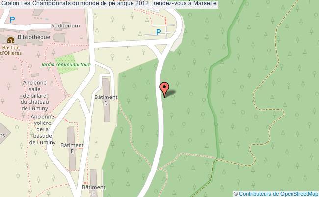 plan Les Championnats Du Monde De Pétanque 2012 : Rendez-vous à Marseille