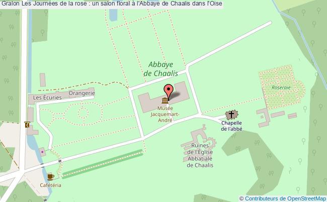 plan Les Journées De La Rose : Un Salon Floral à L'abbaye De Chaalis Dans L'oise