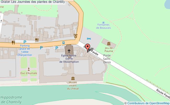 plan Les Journées Des Plantes De Chantilly