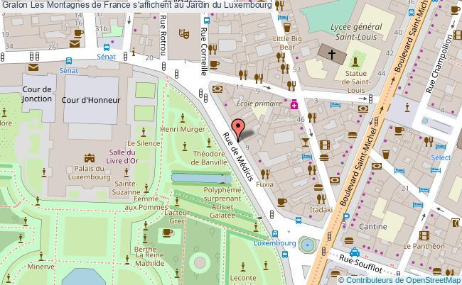 plan Les Montagnes De France S'affichent Au Jardin Du Luxembourg