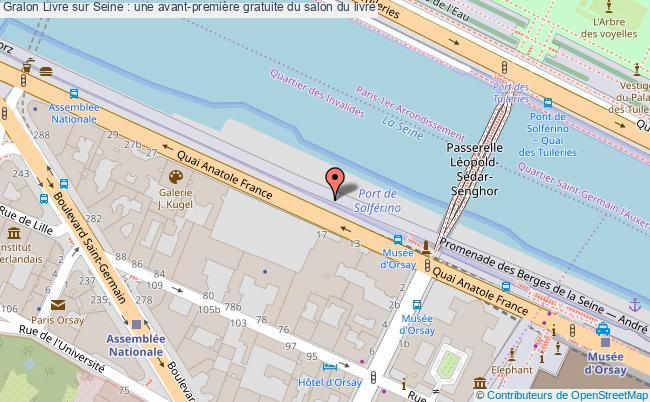 plan Livre Sur Seine : Une Avant-première Gratuite Du Salon Du Livre