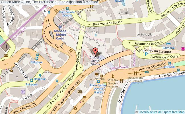 plan Marc Quinn, The Littoral Zone : Une Exposition à Monaco