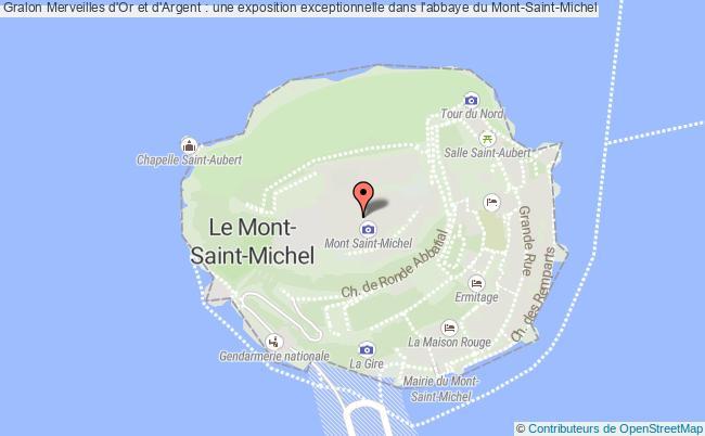 plan Merveilles D'or Et D'argent : Une Exposition Exceptionnelle Dans L'abbaye Du Mont-saint-michel