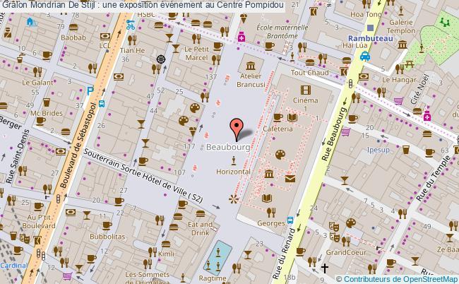 plan Mondrian De Stijl : Une Exposition événement Au Centre Pompidou