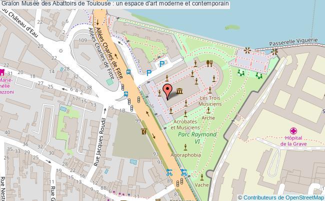 plan Musée Des Abattoirs De Toulouse : Un Espace D'art Moderne Et Contemporain