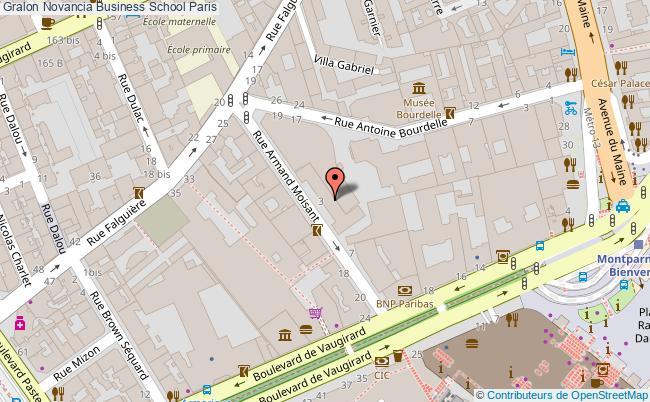 plan Novancia Business School Paris