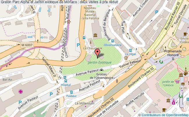 plan Parc Alpha Et Jardin Exotique De Monaco : Deux Visites à Prix Réduit