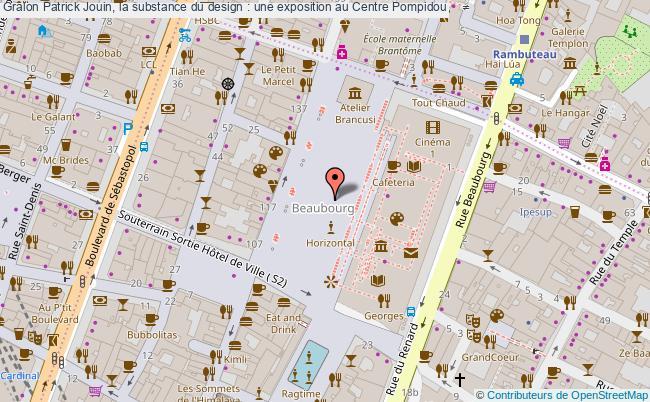 plan Patrick Jouin, La Substance Du Design : Une Exposition Au Centre Pompidou