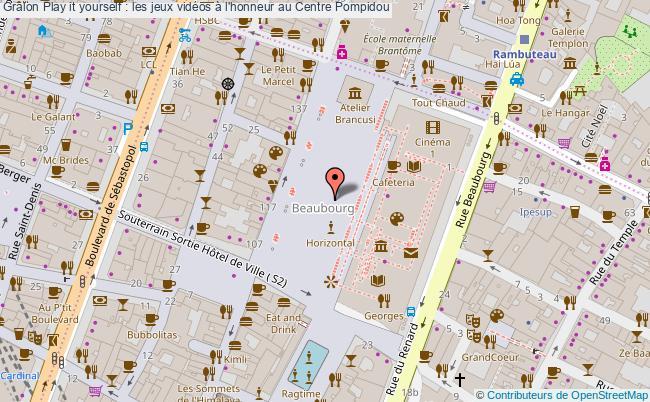plan Play It Yourself : Les Jeux Vidéos à L'honneur Au Centre Pompidou