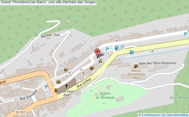 plan Plombières-les-bains : Une Ville Thermale Des Vosges
