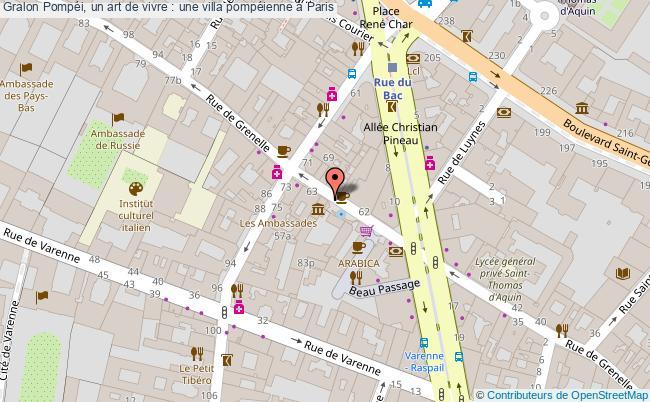 plan Pompéi, Un Art De Vivre : Une Villa Pompéienne à Paris