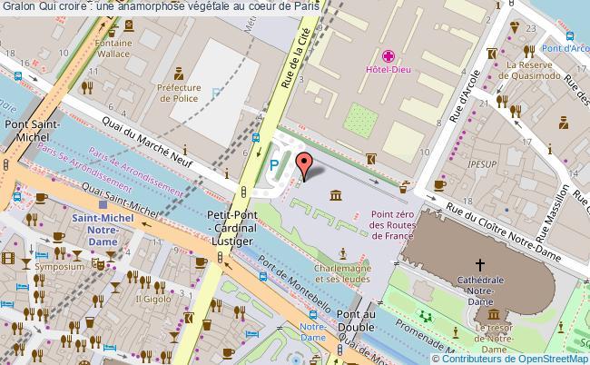 plan Qui Croire : Une Anamorphose Végétale Au Coeur De Paris