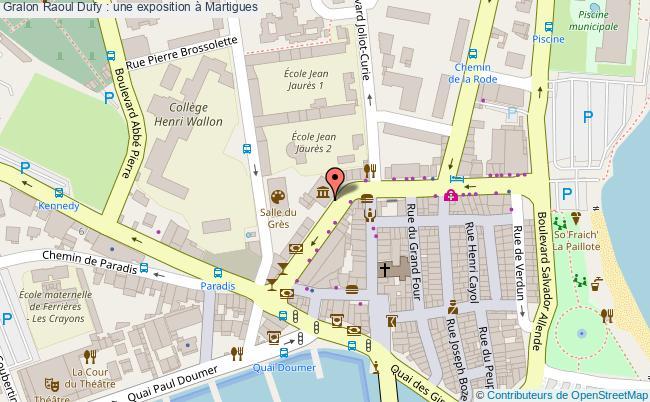 plan Raoul Dufy : Une Exposition à Martigues