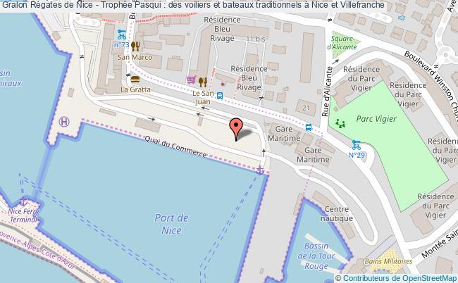 plan Régates De Nice - Trophée Pasqui : Des Voiliers Et Bateaux Traditionnels à Nice Et Villefranche