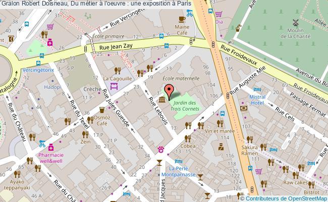 plan Robert Doisneau, Du Métier à L'oeuvre : Une Exposition à Paris