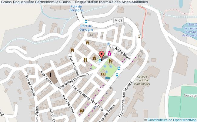 plan Roquebillière Berthemont-les-bains : L'unique Station Thermale Des Alpes-maritimes