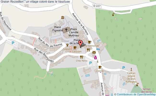 plan Roussillon : Un Village Coloré Dans Le Vaucluse