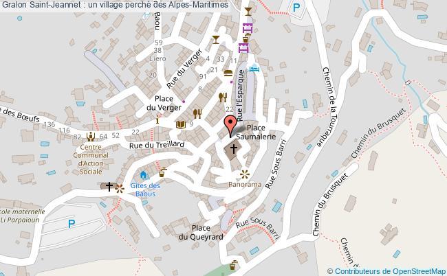 plan Saint-jeannet : Un Village Perché Des Alpes-maritimes