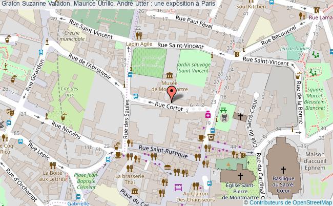 plan Suzanne Valadon, Maurice Utrillo, André Utter : Une Exposition à Paris