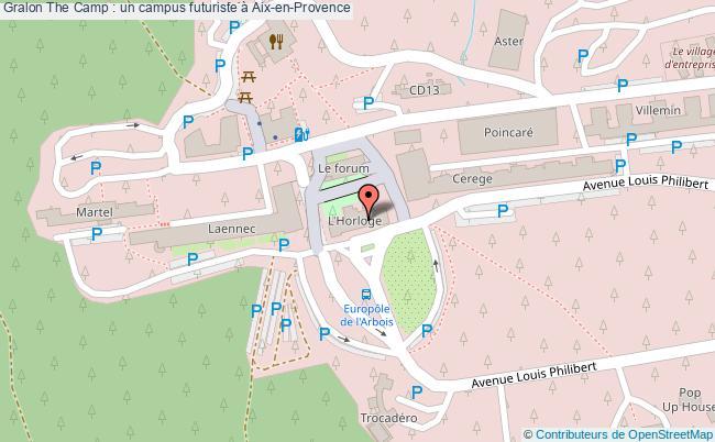 plan The Camp : Un Campus Futuriste à Aix-en-provence